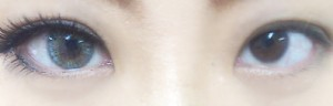 eyetoeye_womanグレーカラコン着用画像BeforeAfter