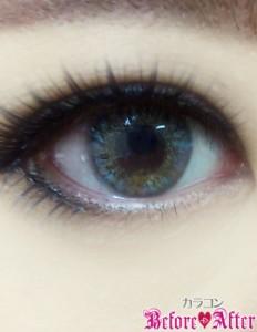 eyetoeye_womanグレーカラコン装着画像暗めに撮影