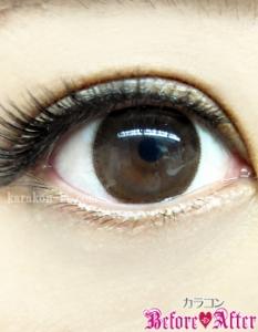 eyecloset(アイクローゼット)/SilhouetteCamel(シルエットキャメル)カラコン装着画像メイク後