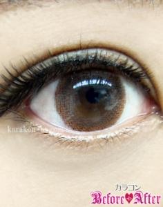 eyecloset(アイクローゼット)/HarvestRing(ハーヴェストリング)カラコン装着画像メイク後