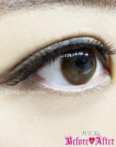 eyecloset(アイクローゼット)/BrightOrb(ブライトオーブ)カラコン装着画像横から