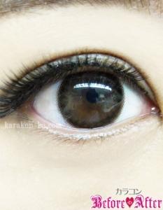 eyecloset(アイクローゼット)/GaussChocolat(ガウスショコラ)カラコン装着画像メイク後