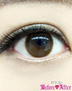eyecloset(アイクローゼット)/BrightOrb(ブライトオーブ)カラコン装着画像メイク後