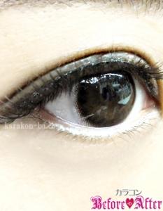 eyecloset(アイクローゼット)/GaussChocolat(ガウスショコラ)カラコン装着画像横から