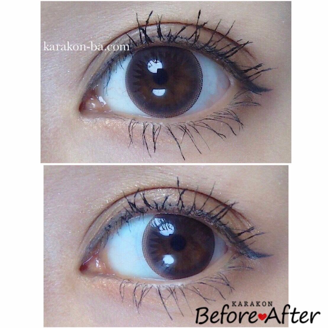 Eye Coffret 1day UV(アイコフレワンデー)ベースメイクのカラコン装着画像/別パターン