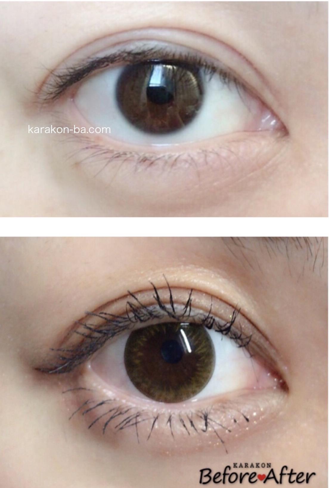 Minette(ミネット)レイヤーアーモンドのカラコン装着画像/裸眼と比較レポ