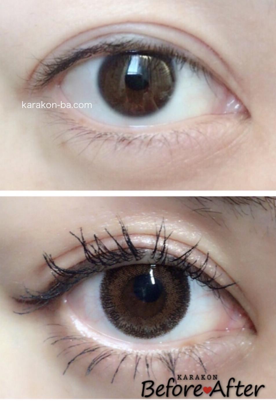 Verita(ヴェリタ)ヴェリタミストのカラコン装着画像/裸眼と比較レポ