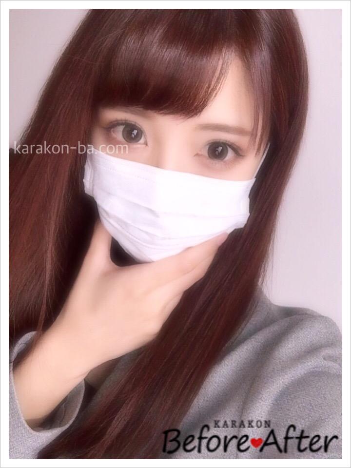 EYE LABO(アイラボ)ジェイニープラチナムブラウンのカラコン装着画像/別パターン②