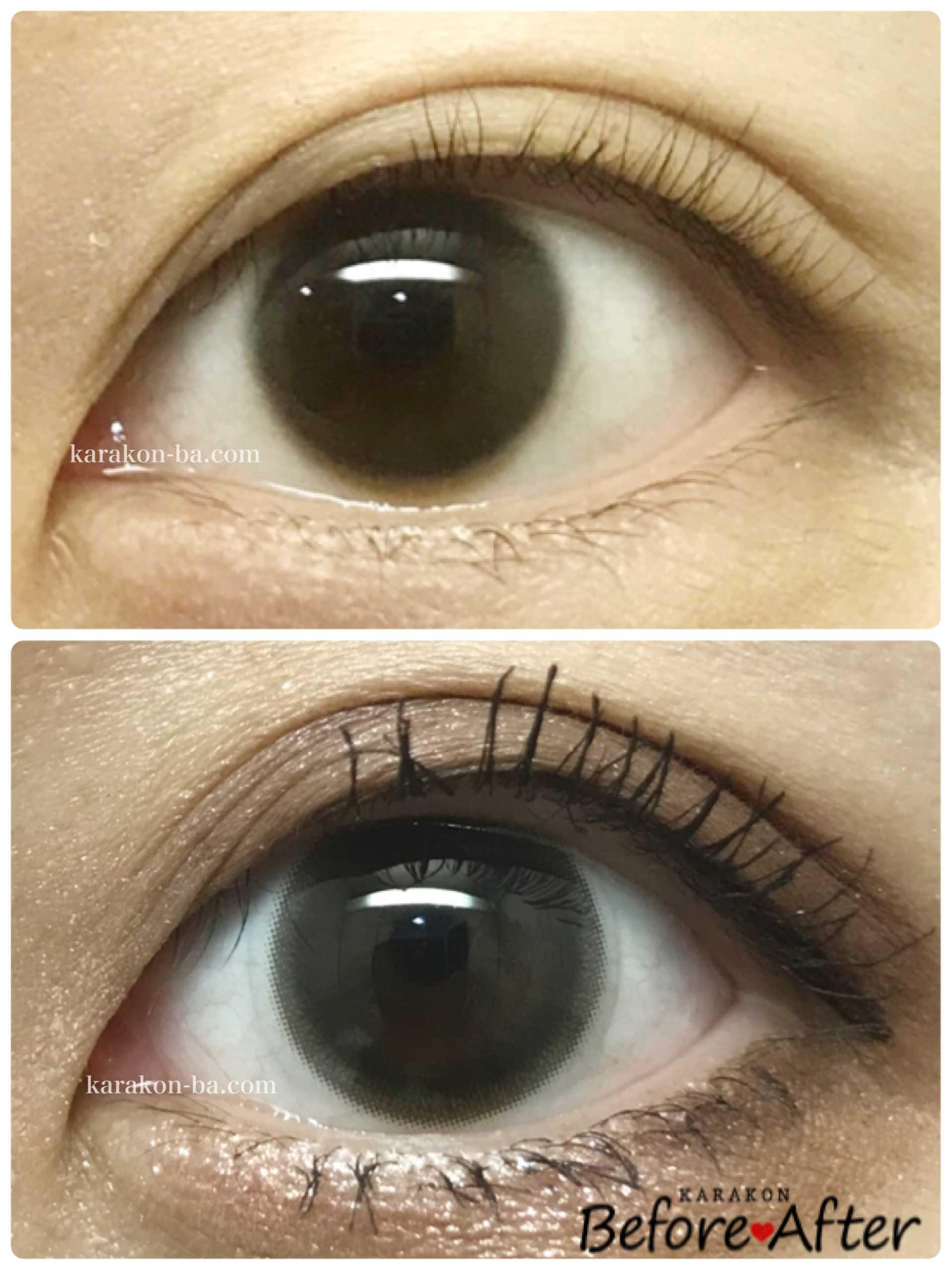 BELTA(ベルタ)ナチュラルブラックのカラコン装着画像/裸眼と比較レポ