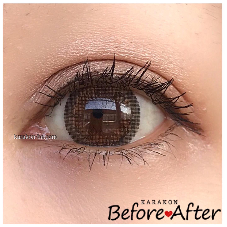 eye to eye(アイトゥーアイ)ジャスミンブラウンのカラコン装着画像(正面から)