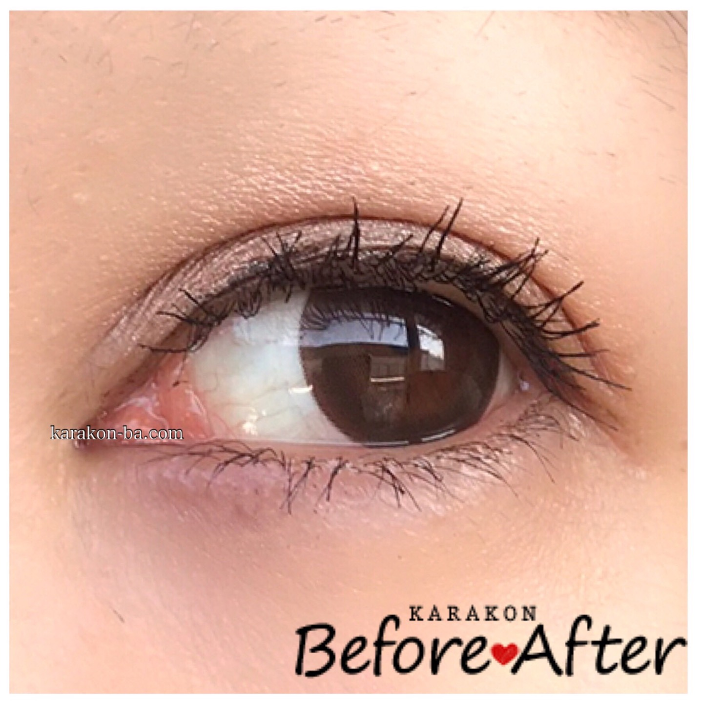 eye to eye(アイトゥーアイ)シナモンブラウンのカラコン装着画像(別の角度から)