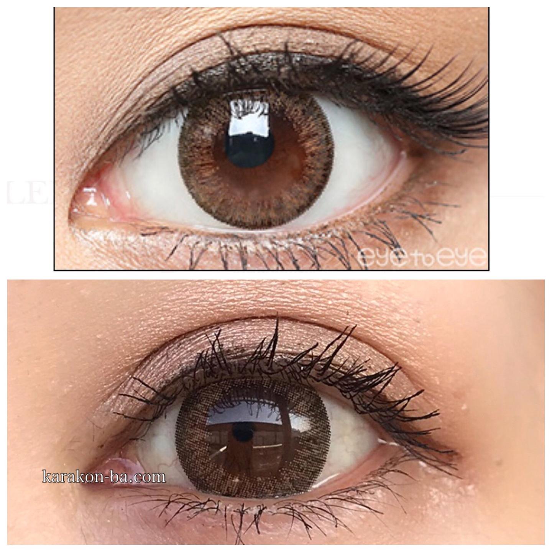 実際に使ってみたeye to eye(アイトゥーアイ)ヴァージンブラウンと公式のカラコン装着画像を比較