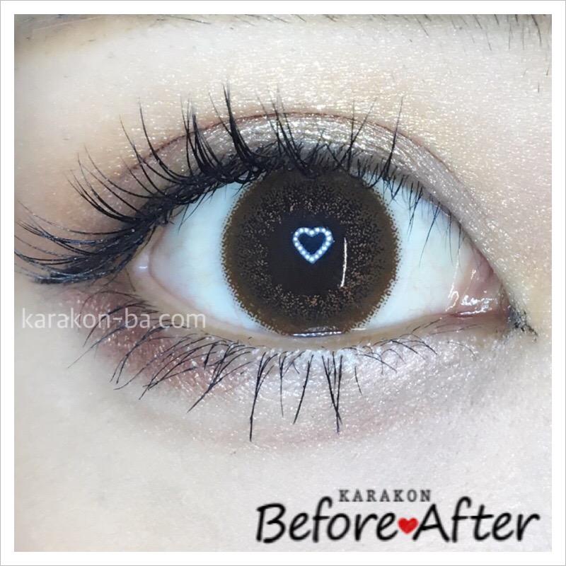 eyelist(アイリスト)チョコのカラコン装着画像/別パターン