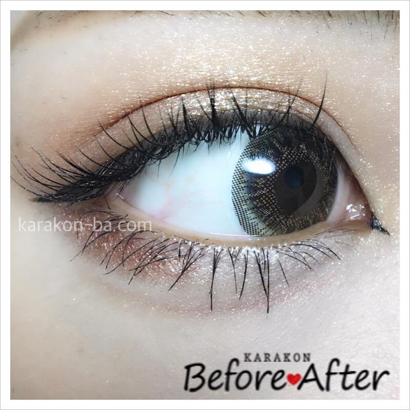 eyelist(アイリスト)シャインのカラコン装着画像(別の角度から)