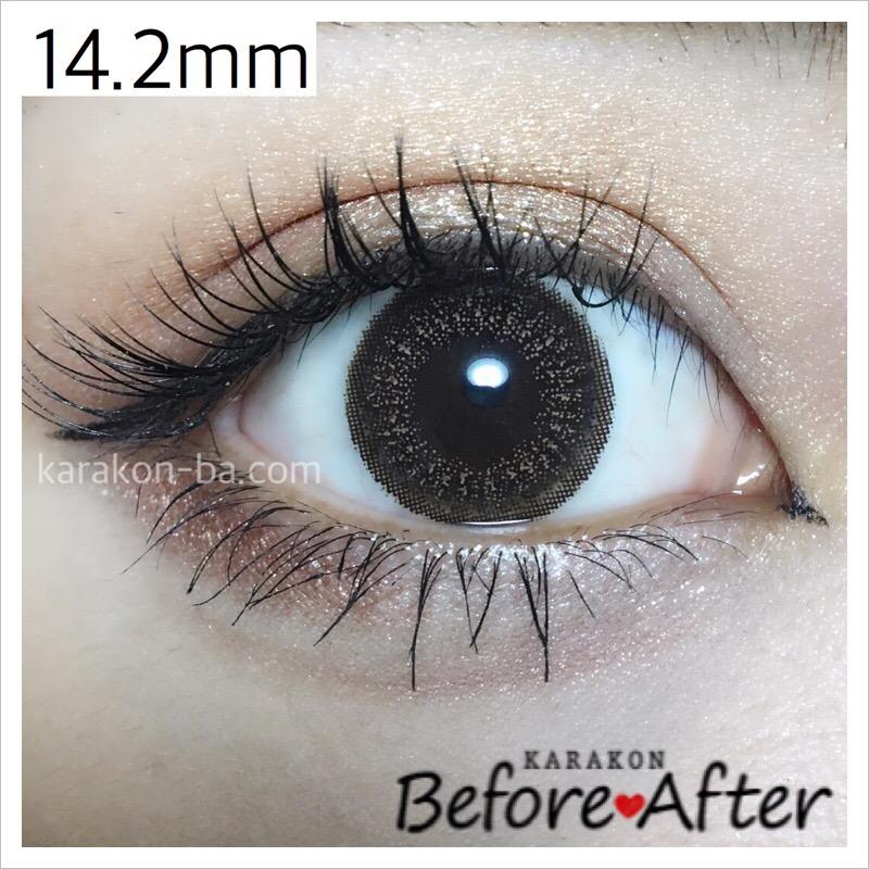 eyelist(アイリスト)ヌーディーのカラコン装着画像(正面から)