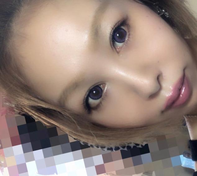 loveil(ラヴェール)バイオレットグレアのカラコン装着画像/別パターン②