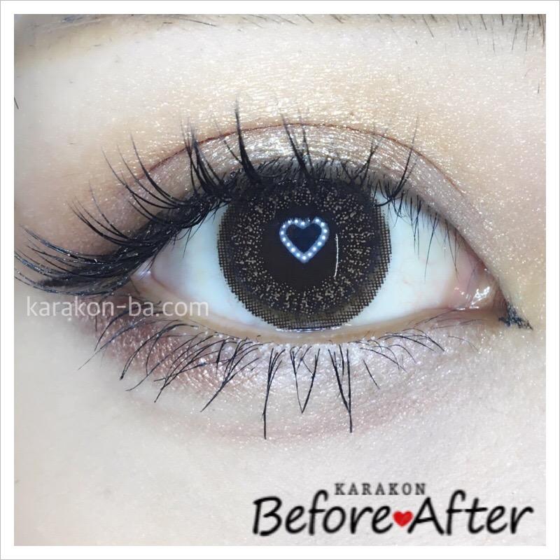 eyelist(アイリスト)ヌーディーのカラコン装着画像/別パターン