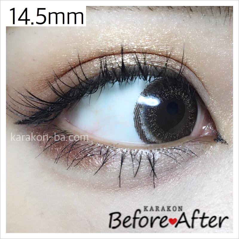 eyelist(アイリスト)ヌーディーのカラコン装着画像(別の角度から)
