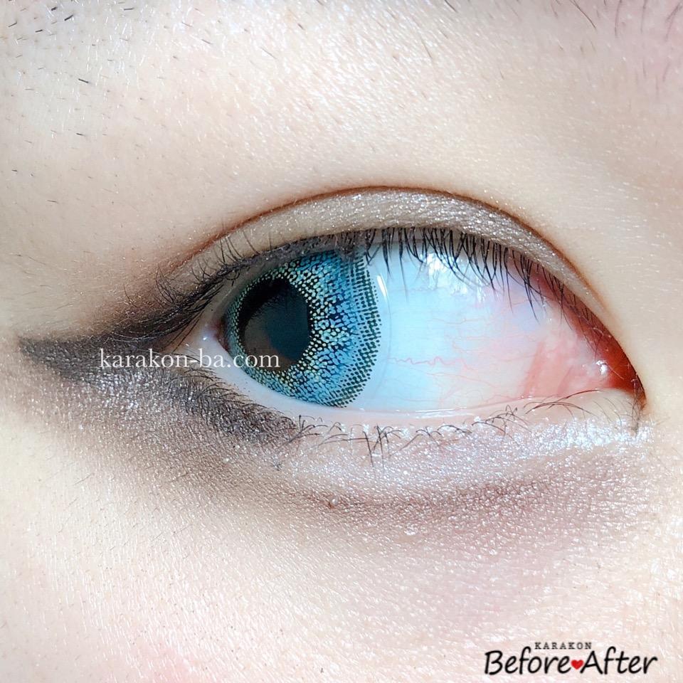 #CHOUCHOU(チュチュ)メールブルーのカラコン装着画像(別の角度から)