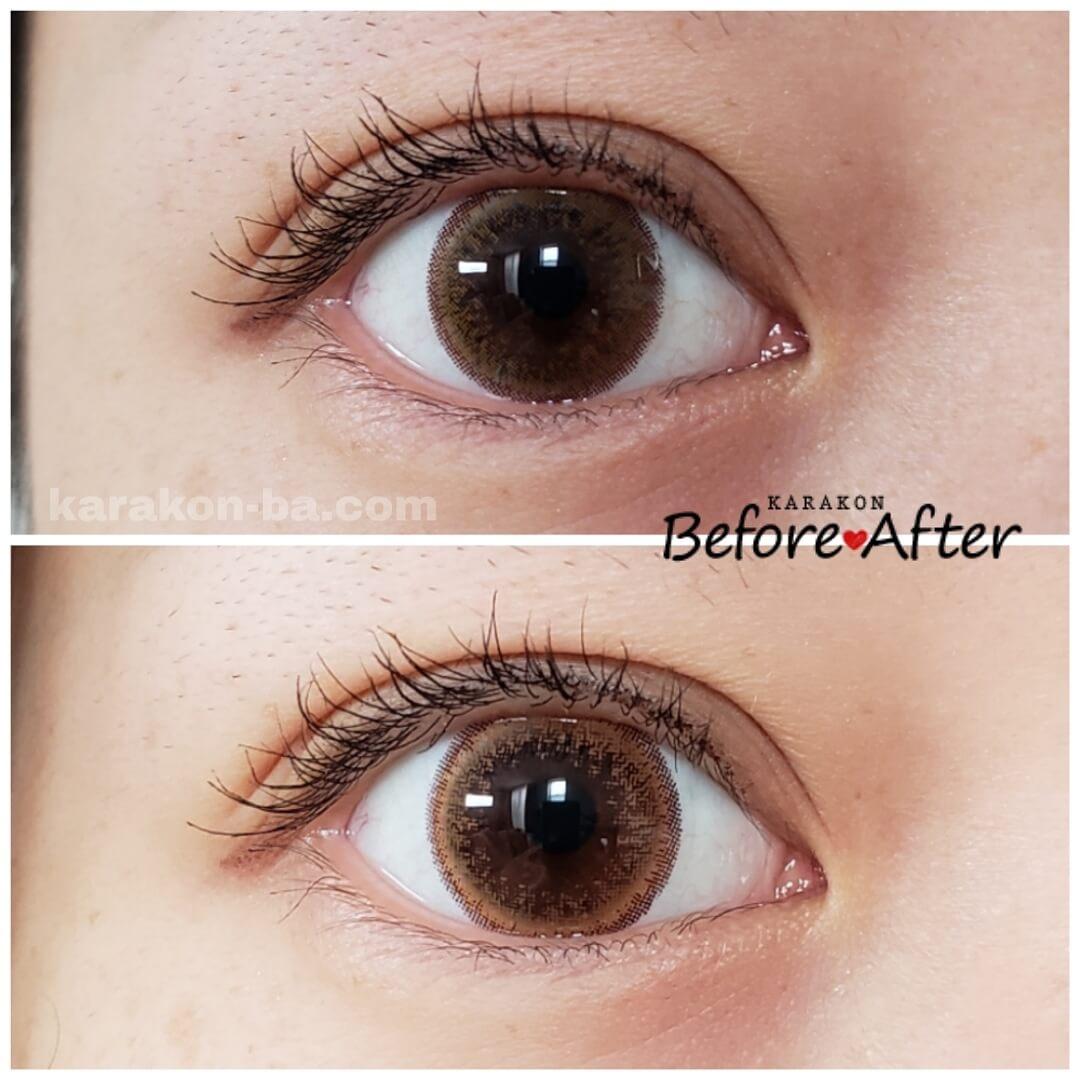 Flower Eyes(フラワーアイズ)ピアニーブラウンと似ているカラコンを比較