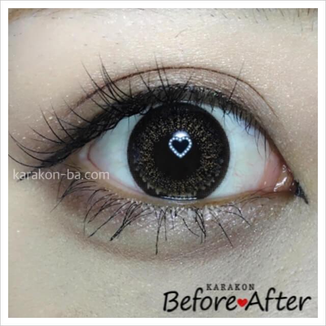 eyelist(アイリスト)リッチのカラコン装着画像/別パターン
