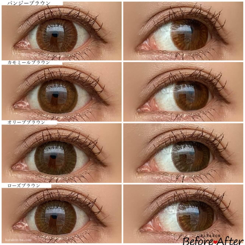 Twinkle Eyes(トゥインクルアイズ)ワンデー ナチュラル全色の着用画像