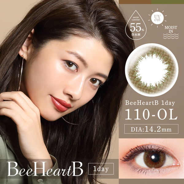 Bee Heart B(ビーハートビー)ワンデー オリーブ